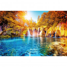 Papier peint panoramique Waterfall And Lake In Croatia DD118895 A.S. Création Designwalls