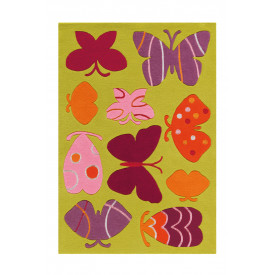 Tapis Amazone 155030 Papillons multicolores