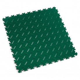 "Dalle PVC garage Fortelock Industry 2010 ""Diamond Vert"""