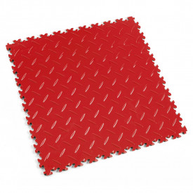 "Dalle PVC garage Fortelock Industry 2010 ""Diamond Rouge Rosso"""